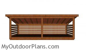 6 cord Wood Shed - front wall