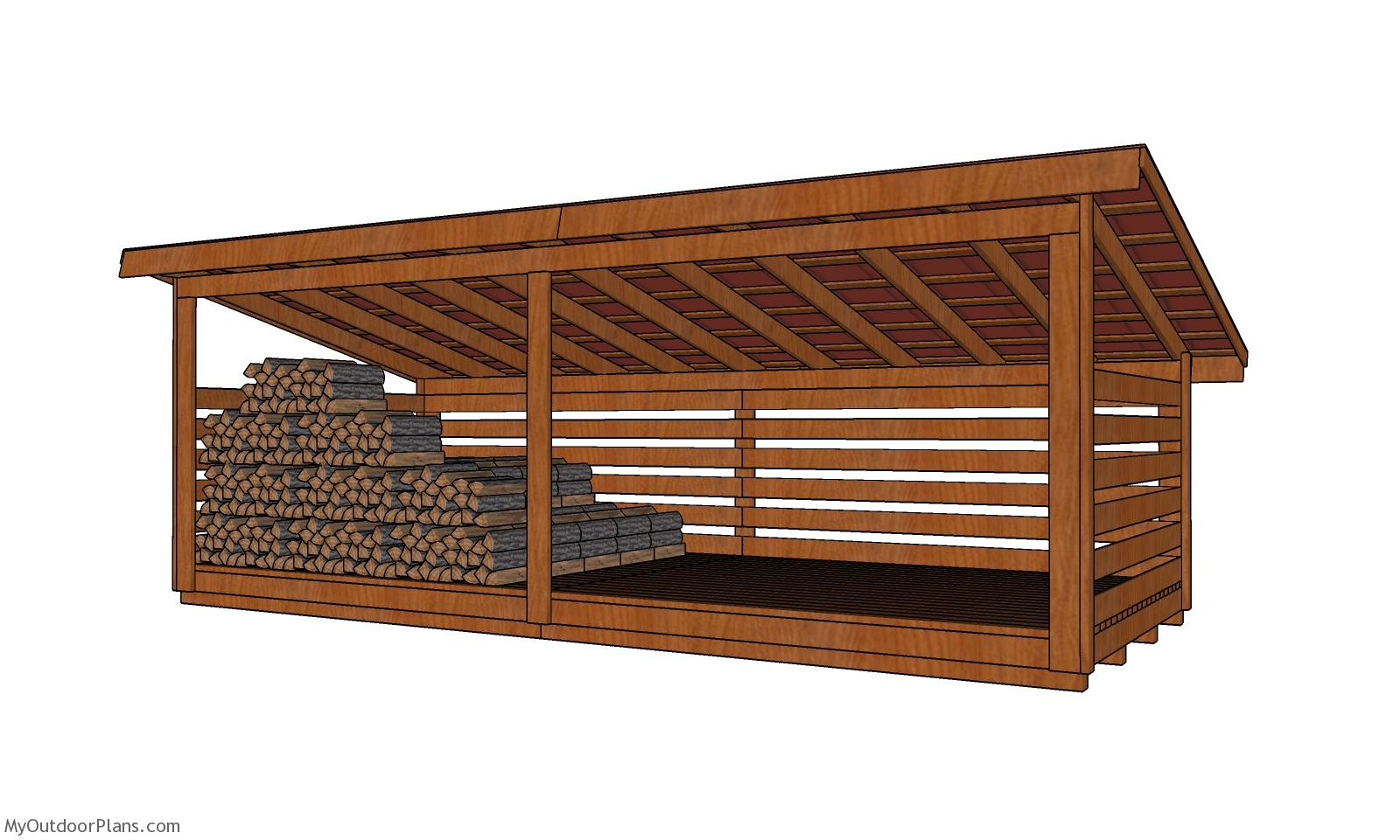 8x20 6 Cord Wood Storage Shed Plans
