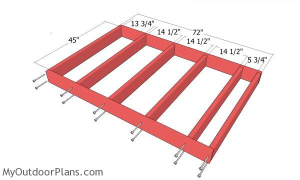 Assemble the shed floor frame