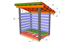4×6 Firewood Shed Plans – Part 2