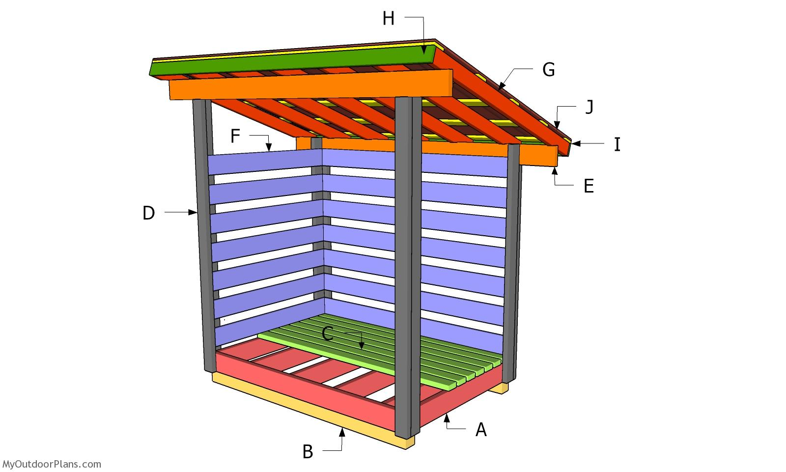 4x6 Firewood Shed Plans - Part 2