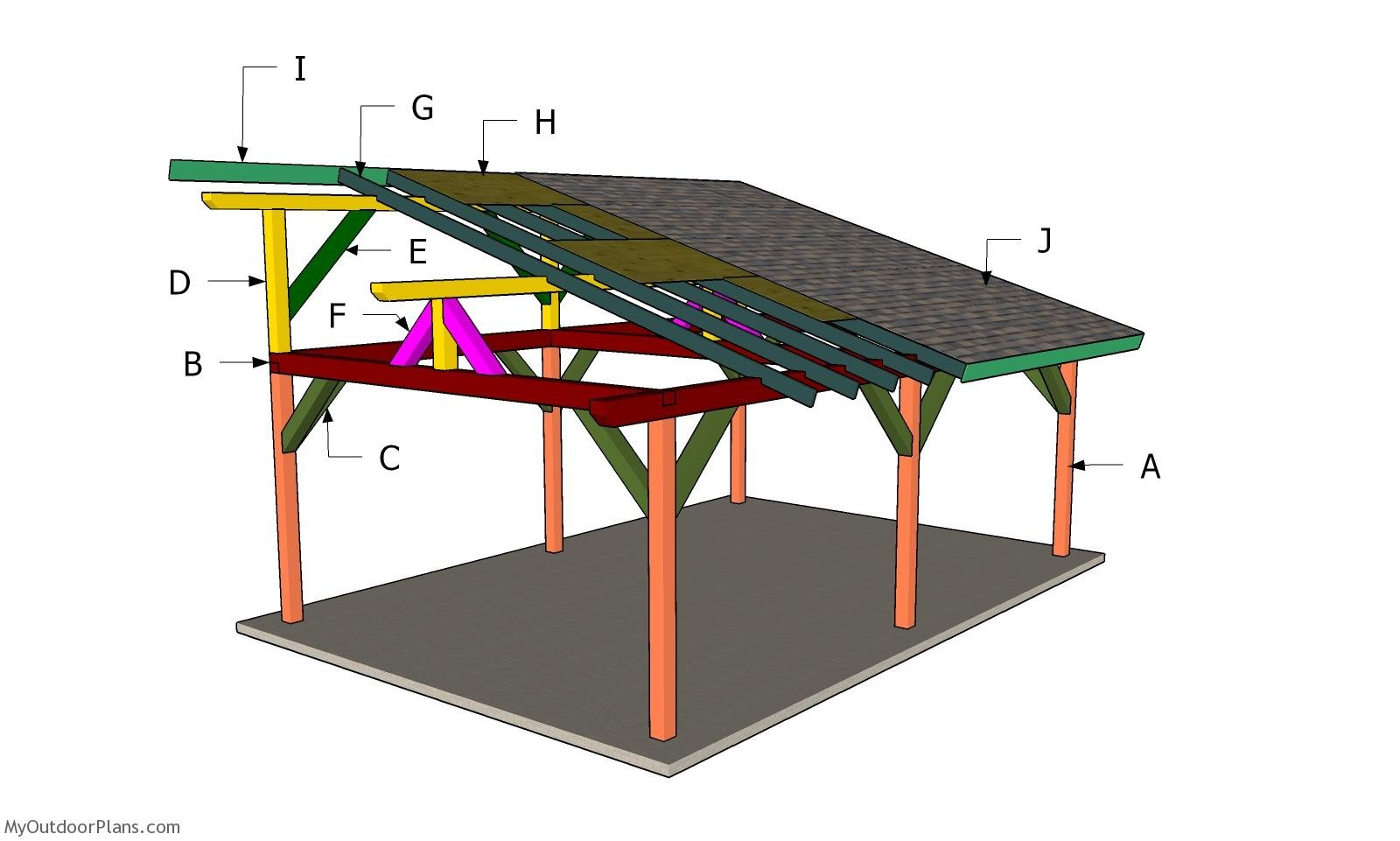 Building a Lean to Roof for a 16x24 Pavilion