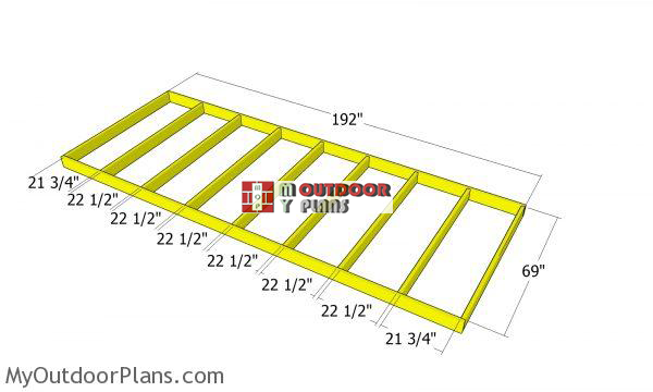 Building-the-floor-frame---4-cord-shed