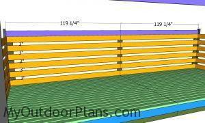 Fitting the back wall slats