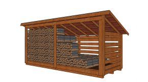 6×16 4 Cord Wood Storage Shed Plans