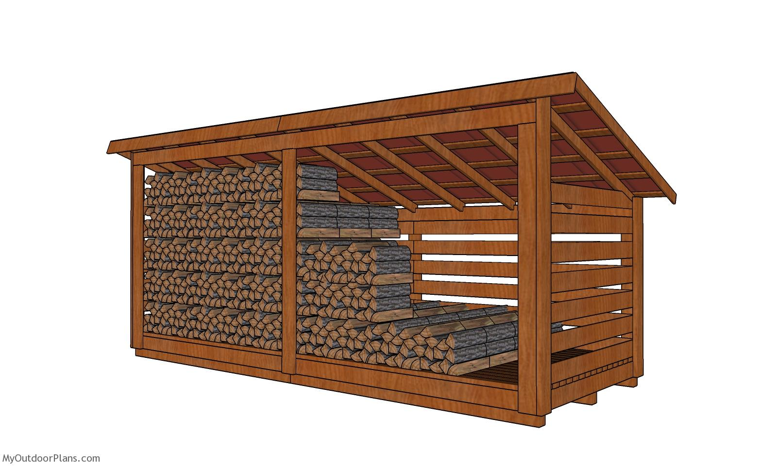 6x16 4 Cord Wood Storage Shed Plans