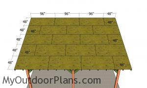Roof sheets attachment