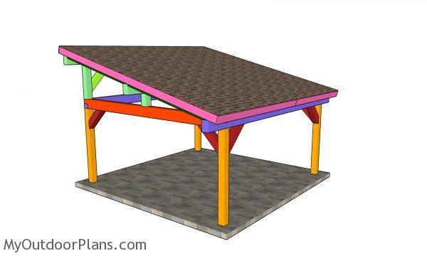 18x18 lean to pavilion plans