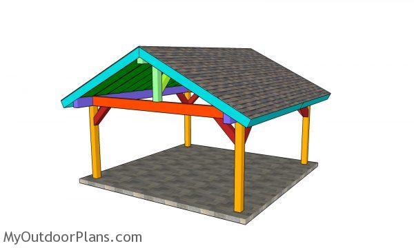 18x18 pavilion plans - assembled