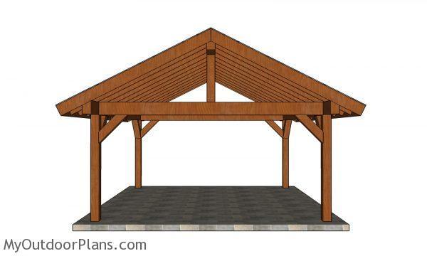 18x18 pavilion plans - front view