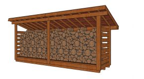 4×16 3 Cord Firewood Shed Plans