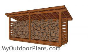 4x16 firewood shed plans - 3 cord