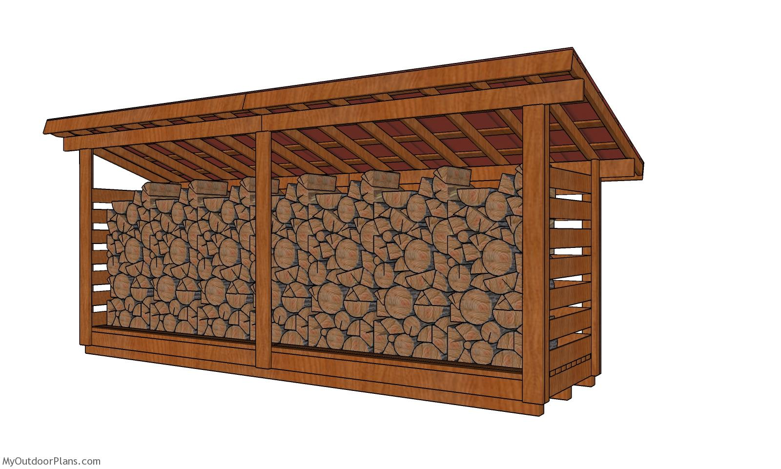 4x16 3 Cord Firewood Shed Plans