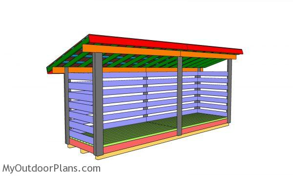 4x16 firewood shed plans