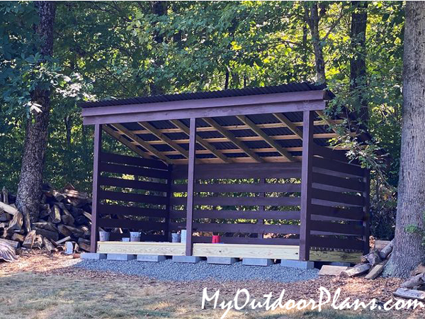 DIY 3 cord Firewood Shed