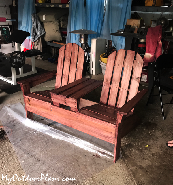 DIY Adirondack Chairs with Table
