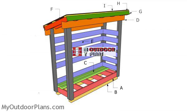 Building-a-2x6-firewood-shed
