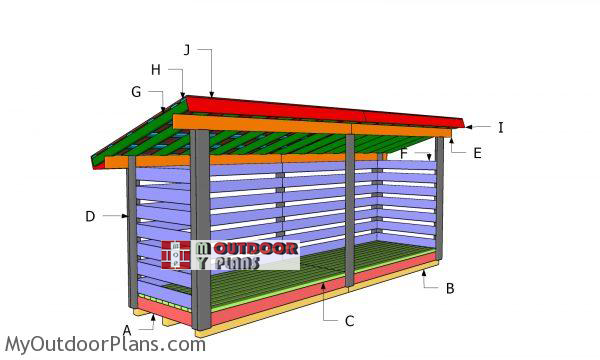 Building-a-3-cord-firewood-shed-plans