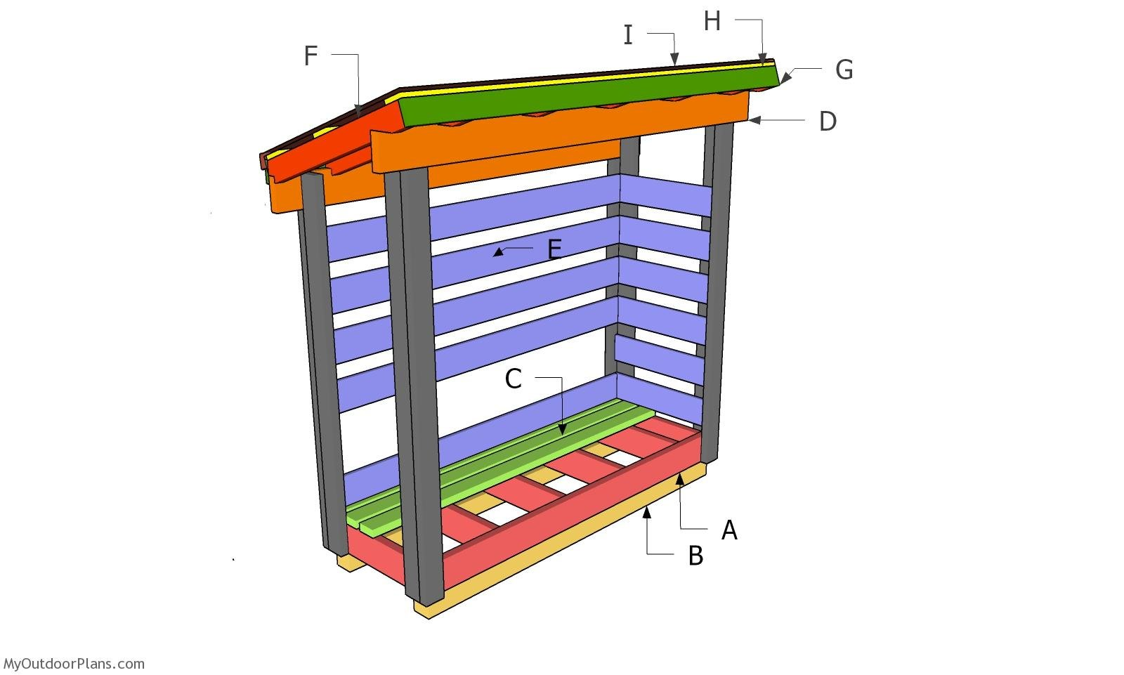 2x6 Firewood Shed Plans - Part 2