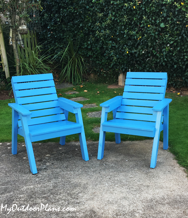 DIY Modern Outdoor Chairs