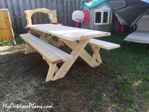 DIY-Picnic-Table-with-Benches