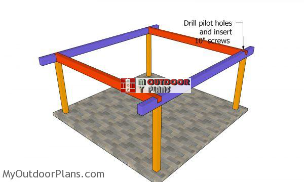 Fitting-the-top-plates---18x18-shelter
