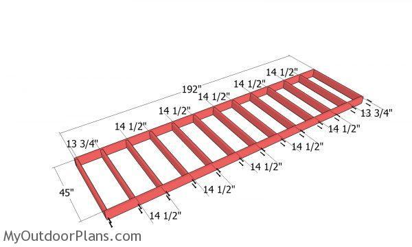 Floor frame - 4x16 shed frame