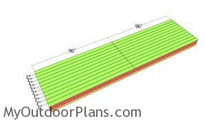 Floor slats - 4x16 shed