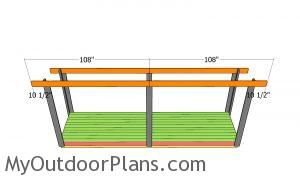 Front and back top beams