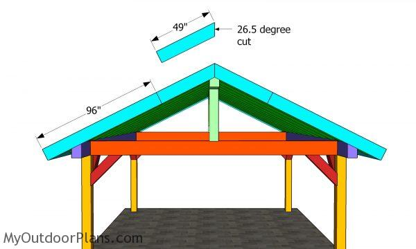 Front roof trims