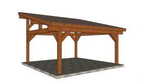 18×18 Lean to Pavilion Plans