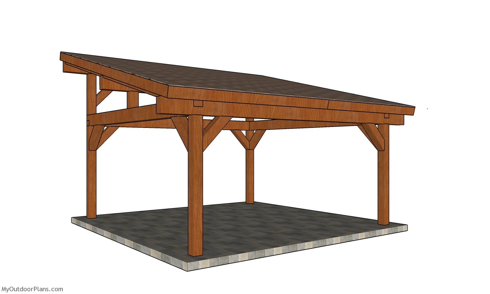 18x18 Lean to Pavilion Plans
