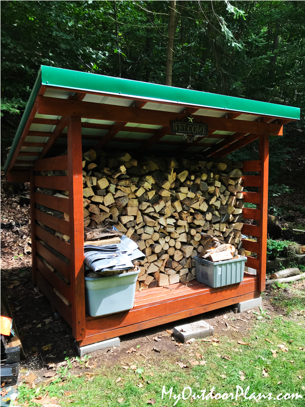 DIY 2 Cord Firewood Shed