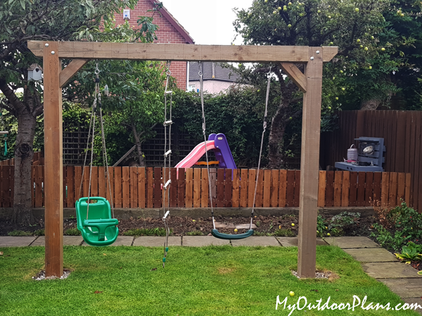 DIY 2 Post Swing Set