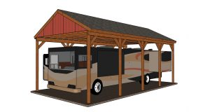 20×40 RV Carport – Free DIY Plans