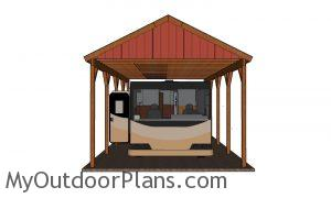 How to build a RV carport - plans