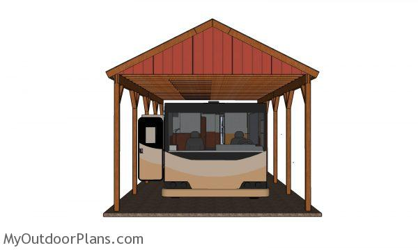 How to build a RV carport - plans