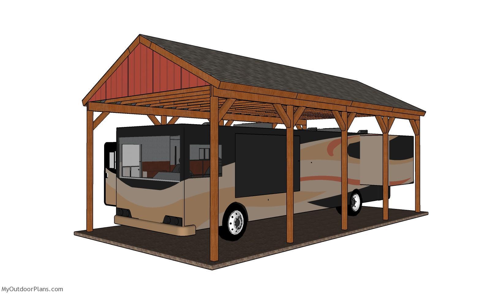 20x40 RV Carport - Free DIY Plans