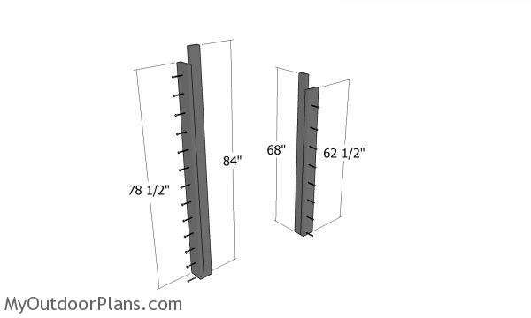 Posts for firewood shed