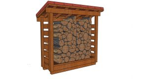 2×6 Half Cord Firewood Shed Plans