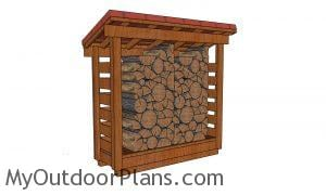 half cord firewood shed plans diy