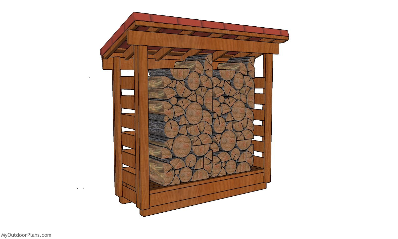 2x6 Half Cord Firewood Shed Plans