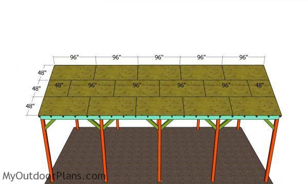 roof sheets - 20x40 carport