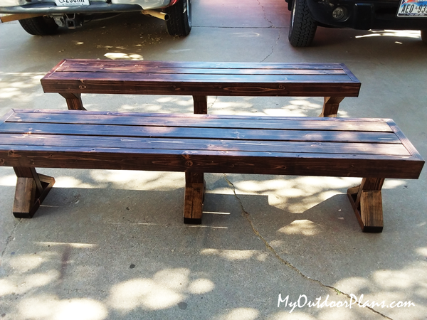 DIY 2x4 Deck Bench