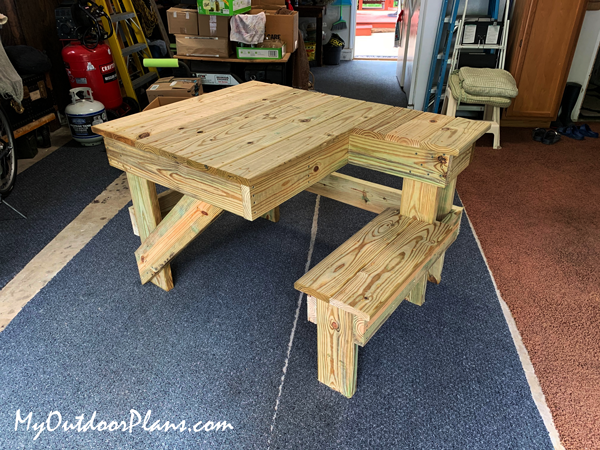 DIY Wood Shooting Table