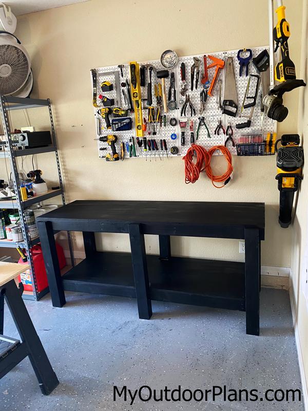 DIY Garage 6 ft Workbench
