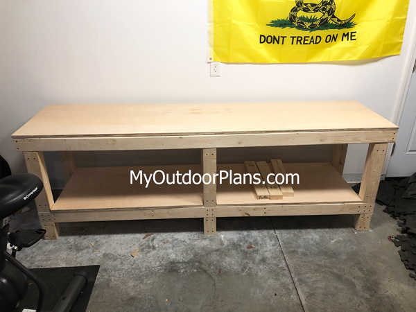 DIY 2x4 8 ft Workbench