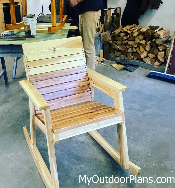 DIY Modern Rocking Chair