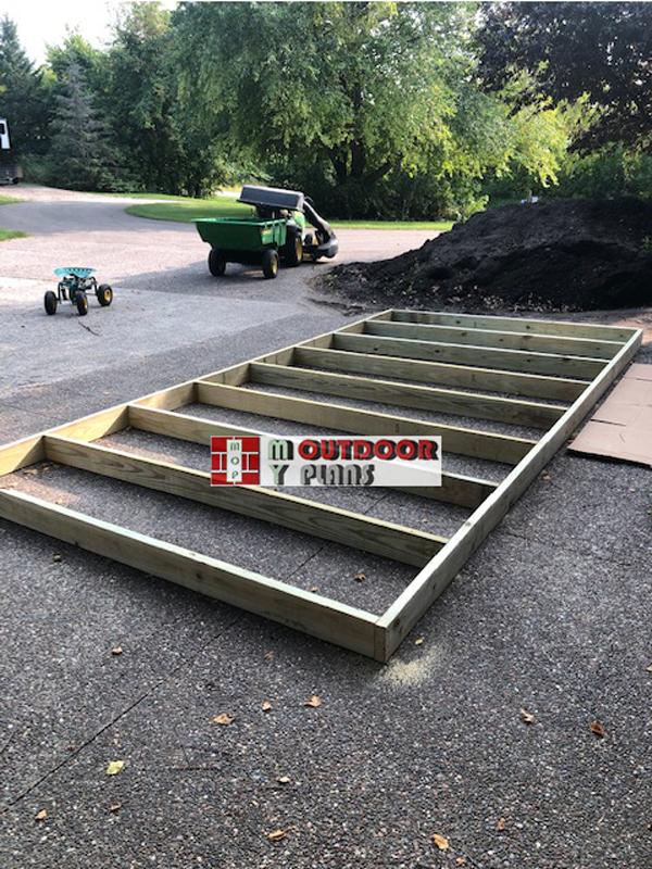 Floor-frame-for-large-firewood-shed