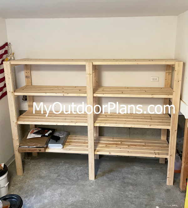 DIY 2x4 Shelves